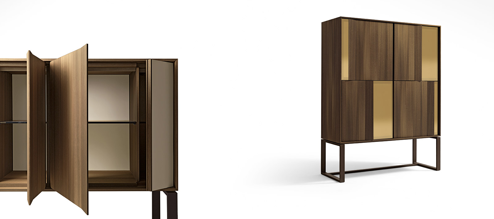 The building's exterior was inspired by  Giorgetti's Origami cabinet .