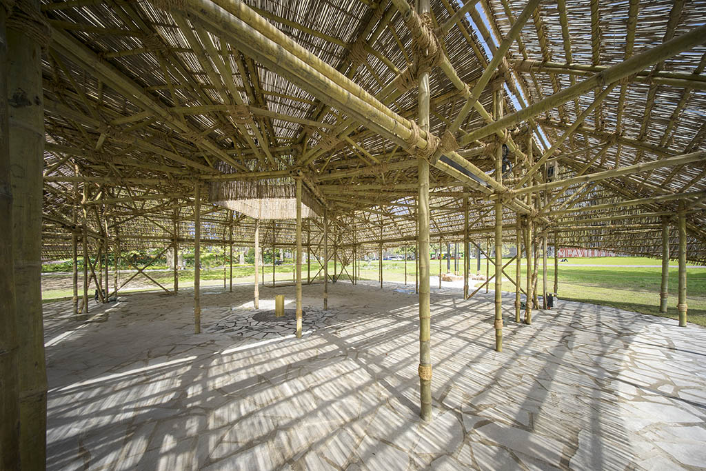 Interior view of the MPavilion by Bijoy Jain. Photo: John Gollings