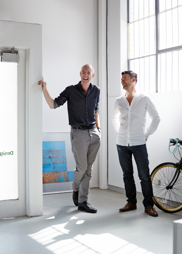 DesignOffice's Mark Simpson, left, and Damien Mulvihill, right. Image courtesy of DesignOffice. Photo:  Sean Fennessy.