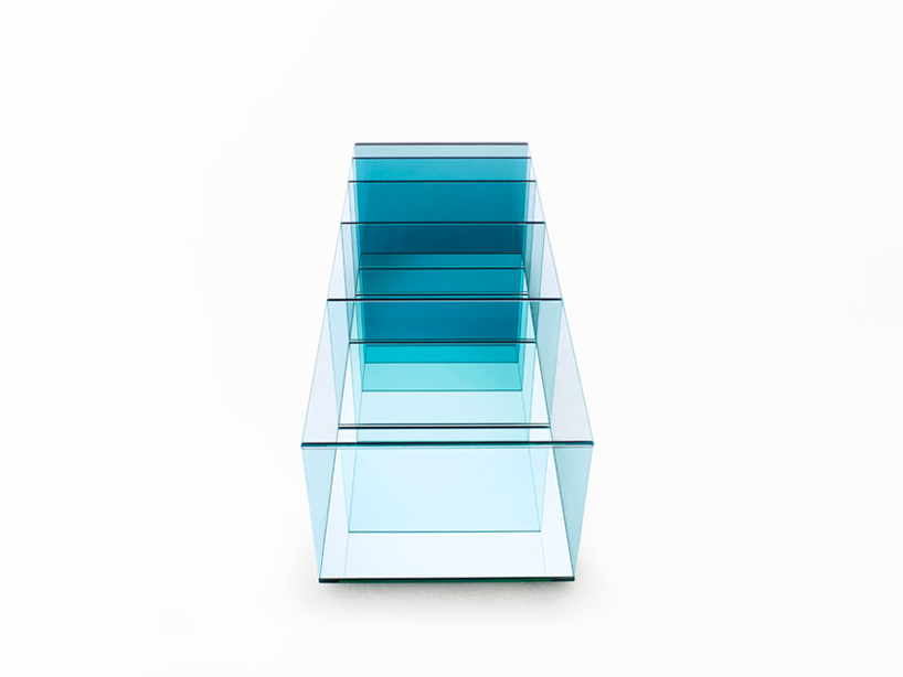 Deep Sea table by Nendo for Glas Italia