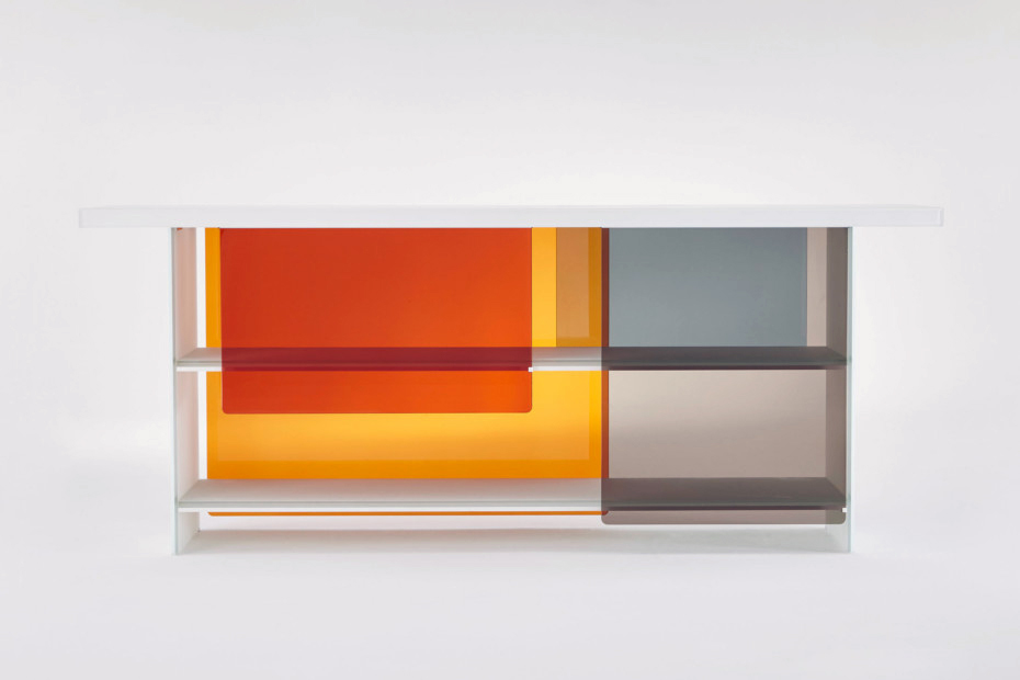 Layers credenza by Nendo for Glas Italia.