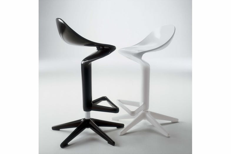 4.  Spoon stool   The collection includes a stool, chair and table, with the stool offering one of the best design solutions for bar top dining.