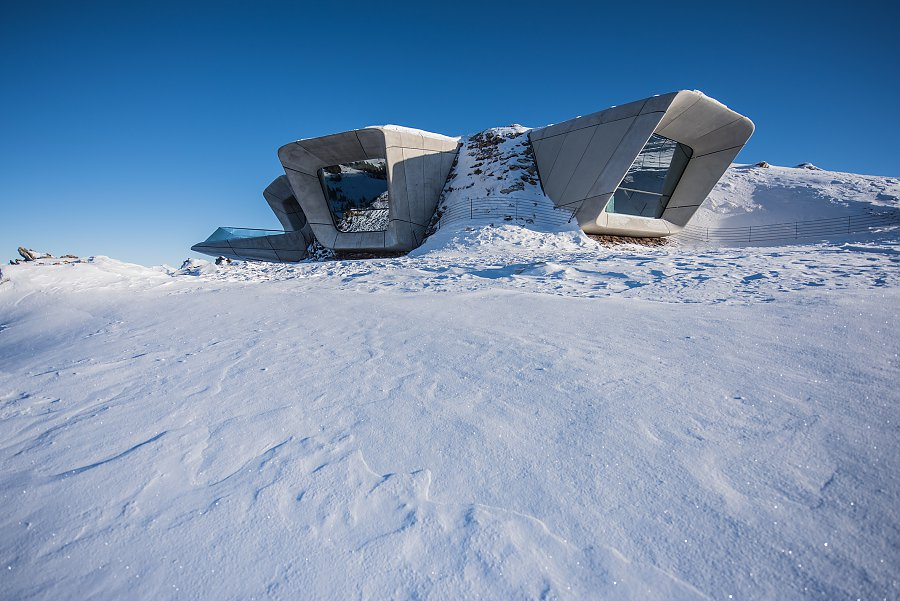 Small but monumental, the Messner Museum at Plan de Corones is located in the Italian Dolomites and is dedicated to the history of mountaineering.