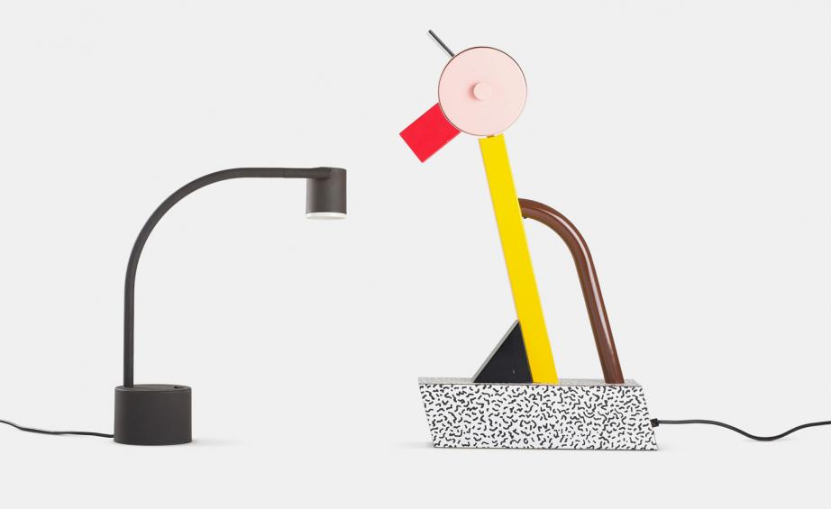 The colourful Tahiti lamp by Sottsass was a Memphis statement and a nod to the whimsical other-life of objects.