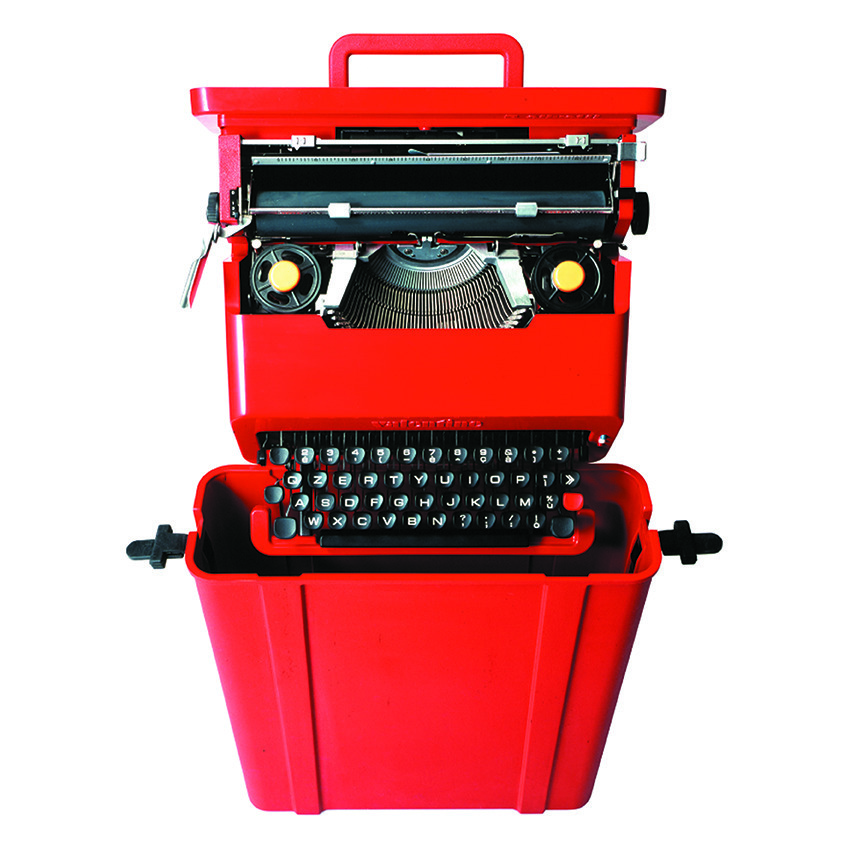 The Valentine typewriter designed by Sottsass for Olivetti in 1969 changed the face and form of electronics, inspiring the next generation of computer revolutionaries including Steve Jobs and Apple..