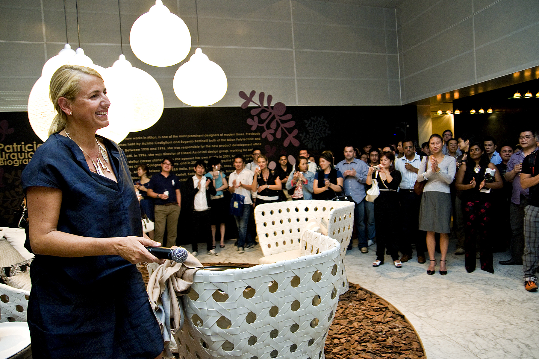 Architects, designers and the Singapore media joined designer Patricia Urquiola at the launch of her Canasta collection for B&B Italia at Space Asia Hub in 2013.