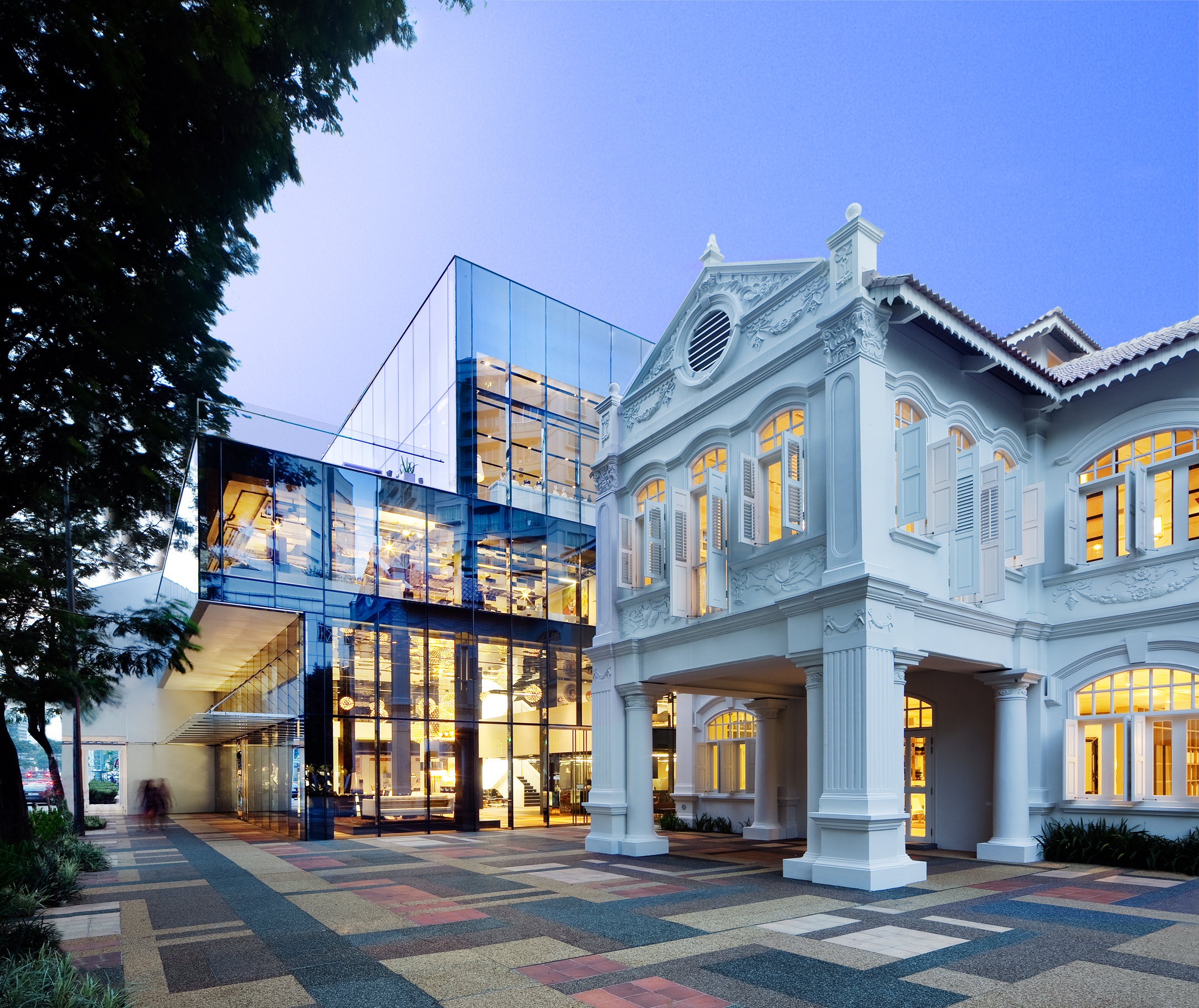 Designed by WOHA and located within Singapore's Arts and Heritage District, Space Asia Hub is housed within a unique cluster of heritage buildings.