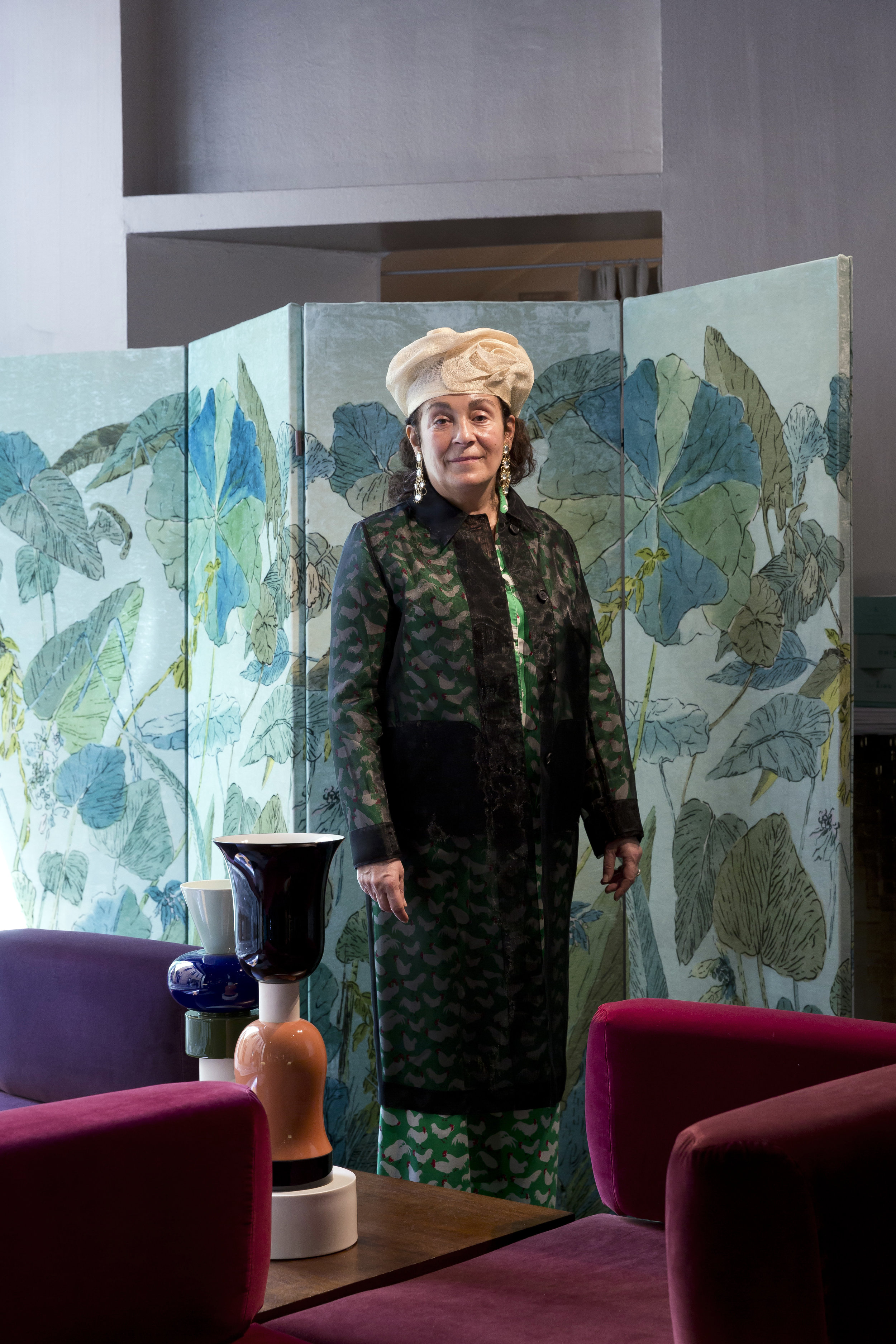 Nina Yashar, collector and founder of the Nilufar Gallery.