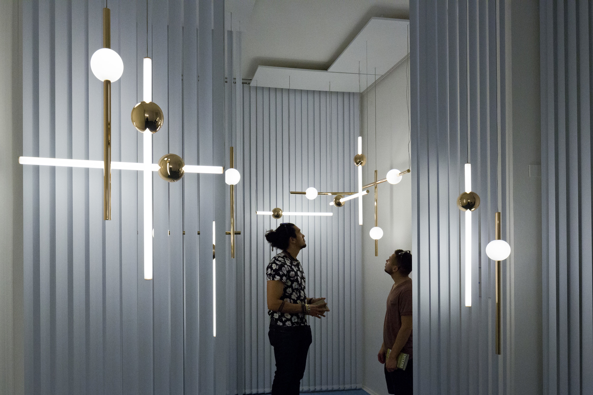 The Orion light by Lee Broom is part of the show 'Observatory' during Milan Design Week.