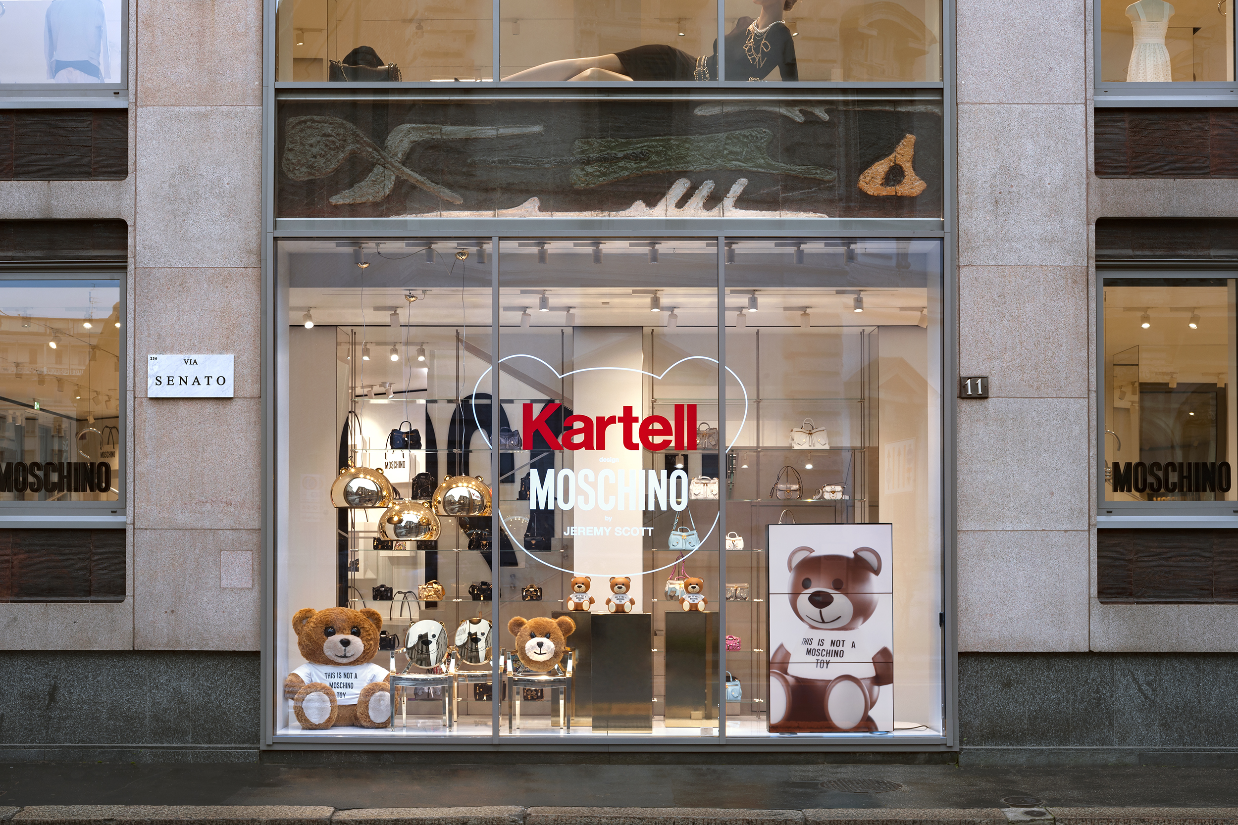 Kartell's collaboration with Moschino produced 'Toy' a bear that is both novelty and light.