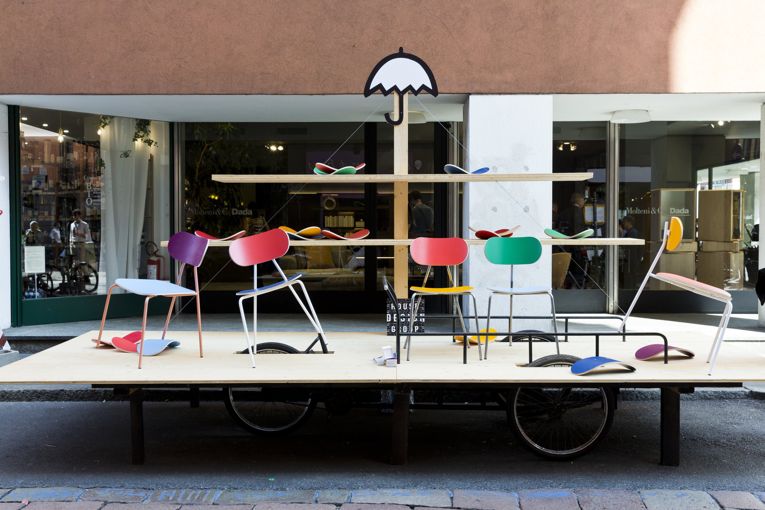 In the streets of the Brera Design District where more than 100 exhibitions themeed around 'Be Human: Designing with Empathy'.