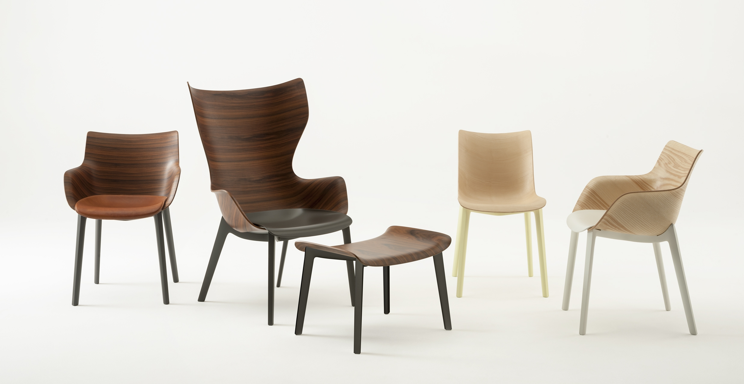 The Woody collection designed by Philippe Starck for Kartell.