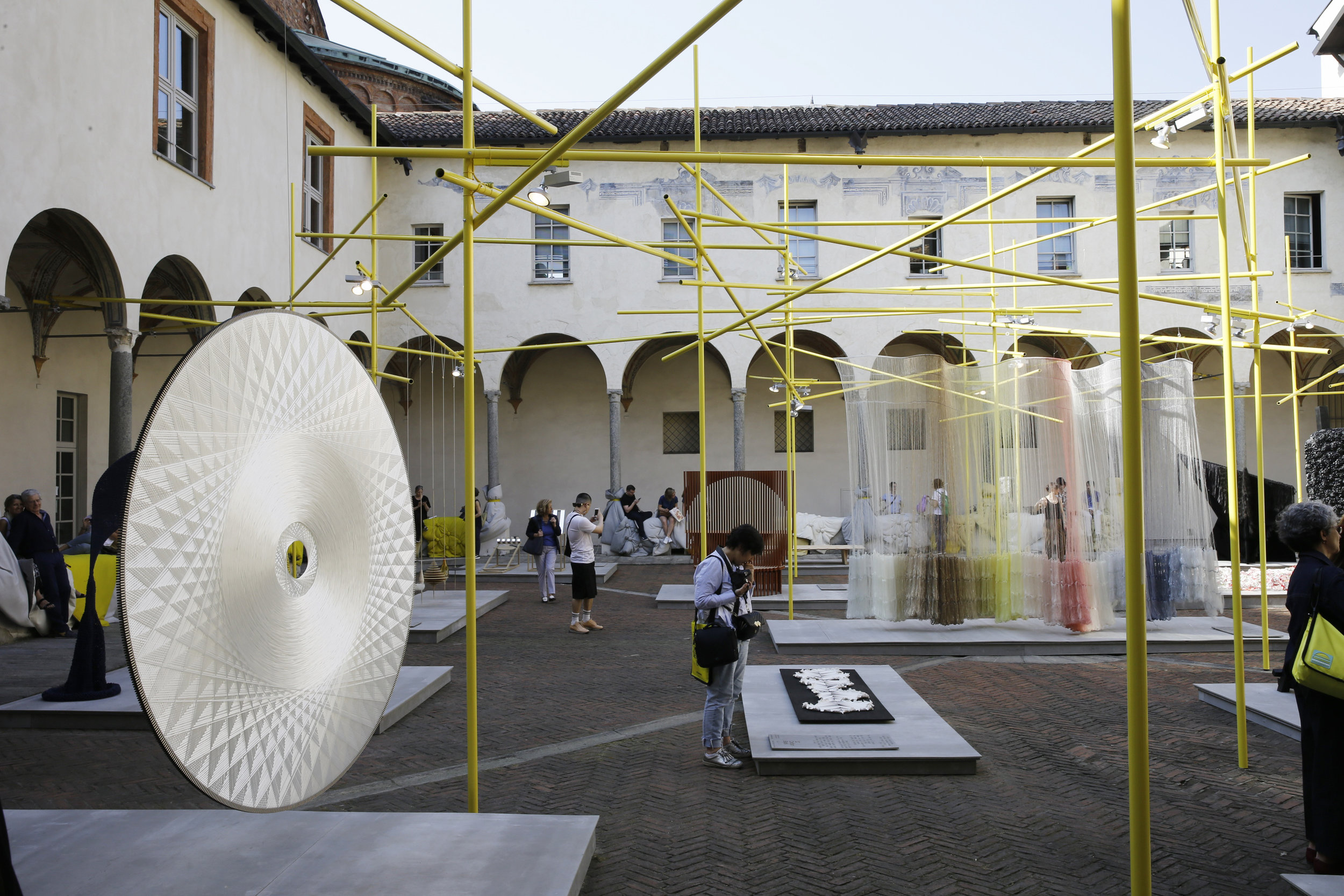 Local architects Mosca Partners curated a series of installations at the famous Palazzo Litta