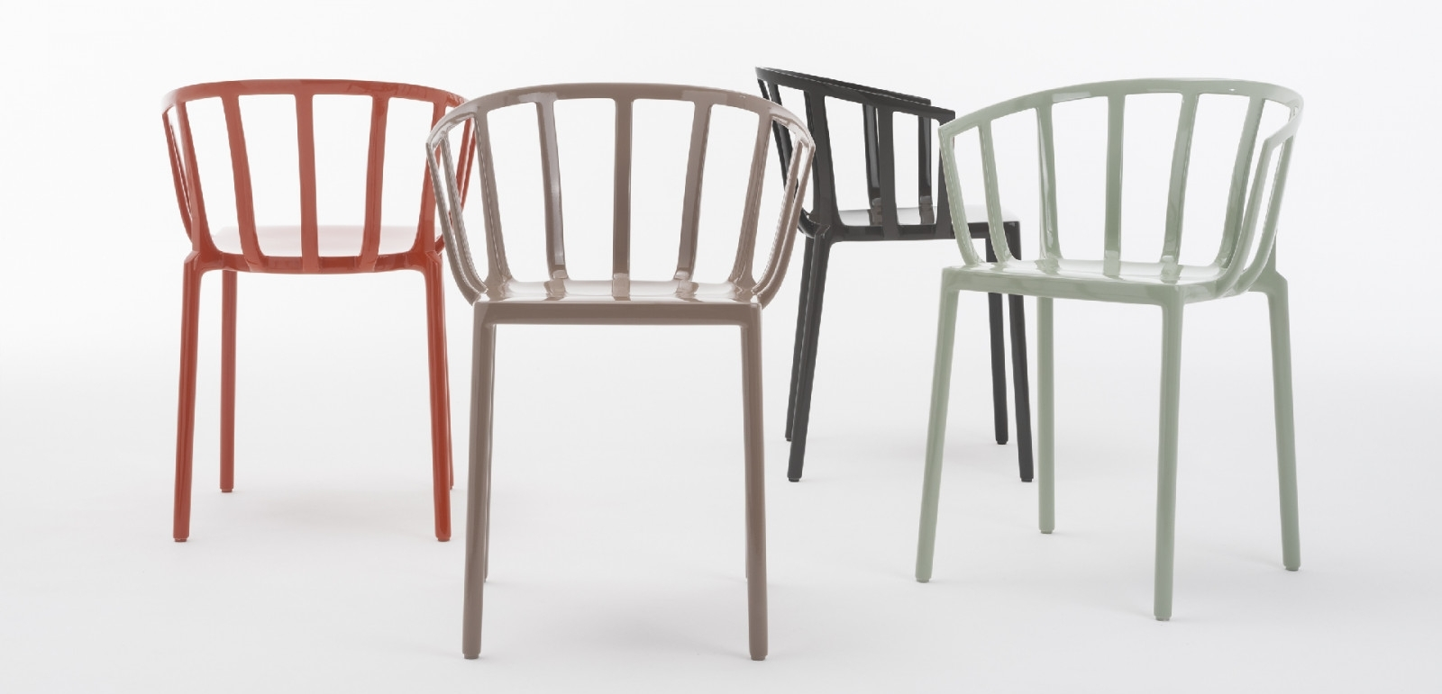 A tribute to the famous Harry's Bar in Venice, the Generic for Venice chair by Philippe Starck for Kartell.