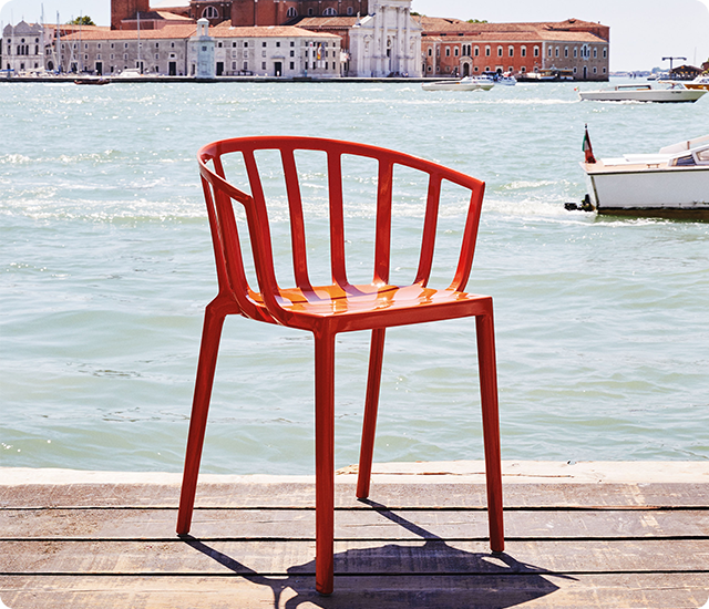 Venice, the latest member of the Kartell Generic collection designed by Philippe Starck.