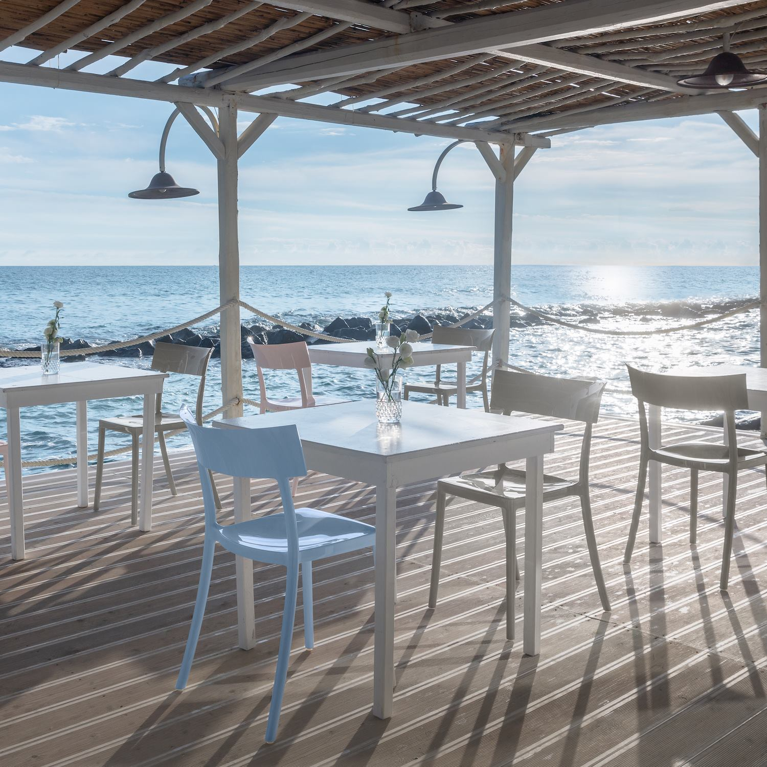 La Peschiera Hotel overlooking the Adriatic Sea and surrounded by a former fishing village in Puglia. Photography © Sara Magni.
