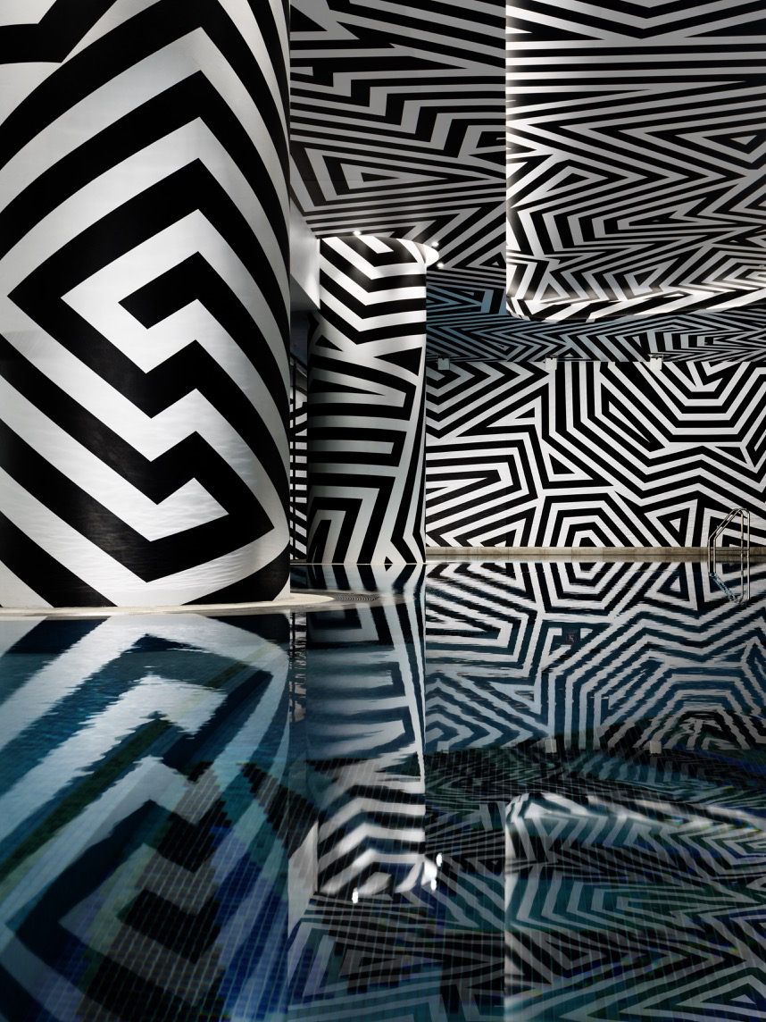 Detailed collaborations with artists, craftspeople and designers including Fabio Ongarato have created some of the very unique spatial experience at the W Brisbane, including a huge in situ graffiti wall that became one of the most talked about additions to the new hotel.. Photography Justin Alexander.