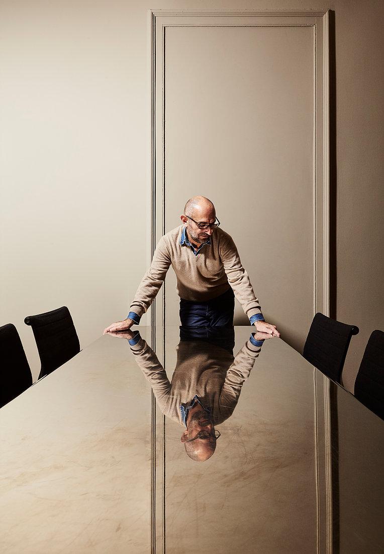 Designer Ferruccio Laviani in his Milan studio. Photography © Max Rommel.