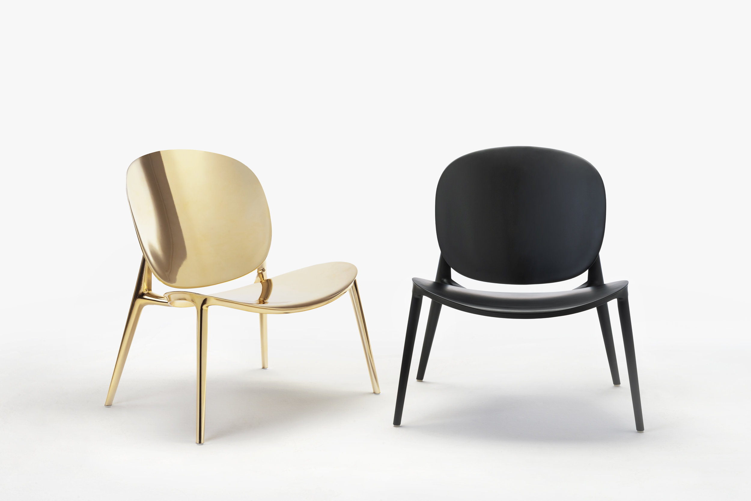 Designed by Ludovica and Roberto Palomba, Be bop was named after the jazz movement with a form developed from the lines of a traditional carved African stool merged with the softly curved plywood shapes of the mid-20th century. Photo © Kartell.