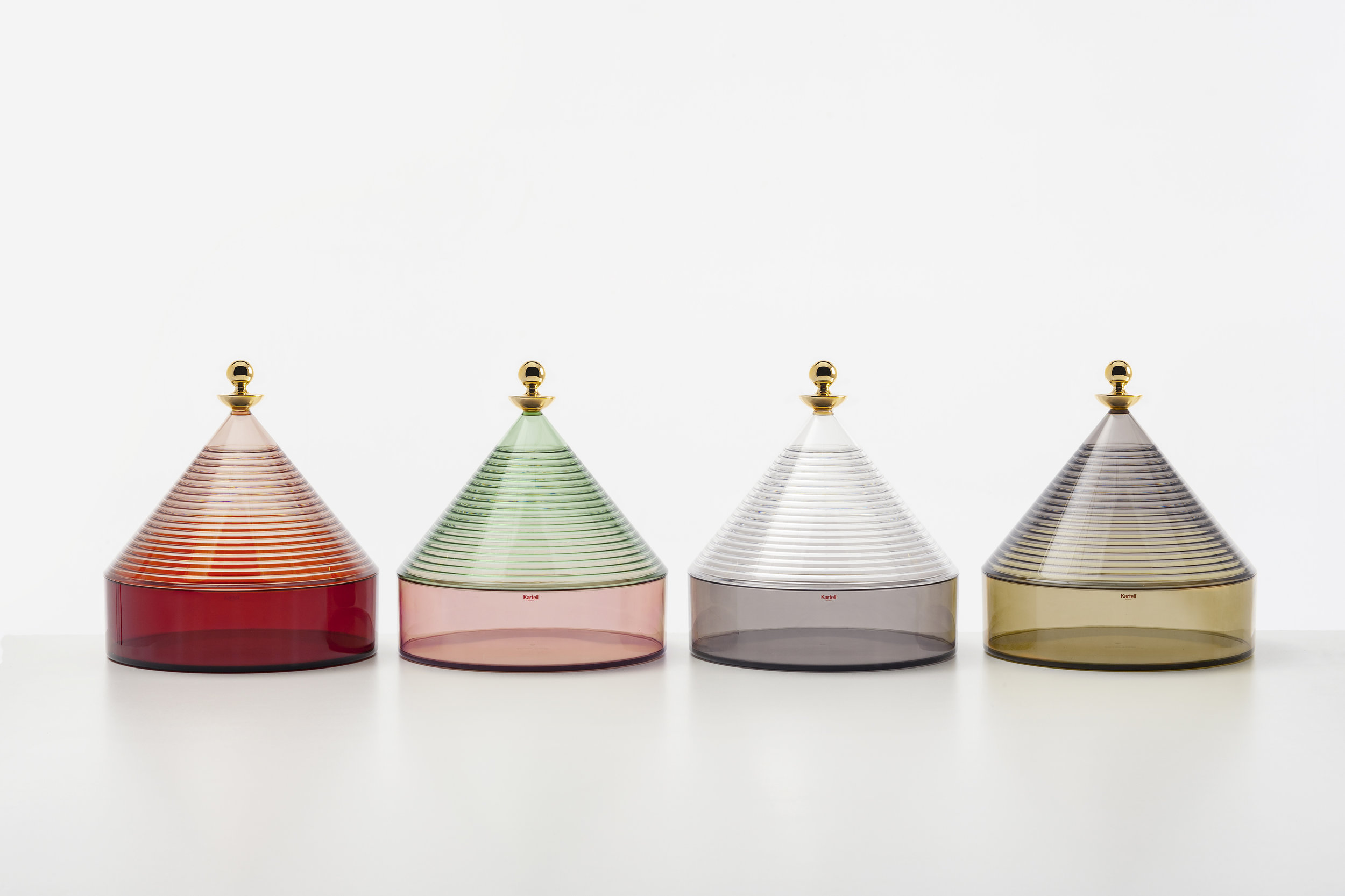 The Trulli containers designed by Fabio Novembre for  Kartell . Photo © Kartell.