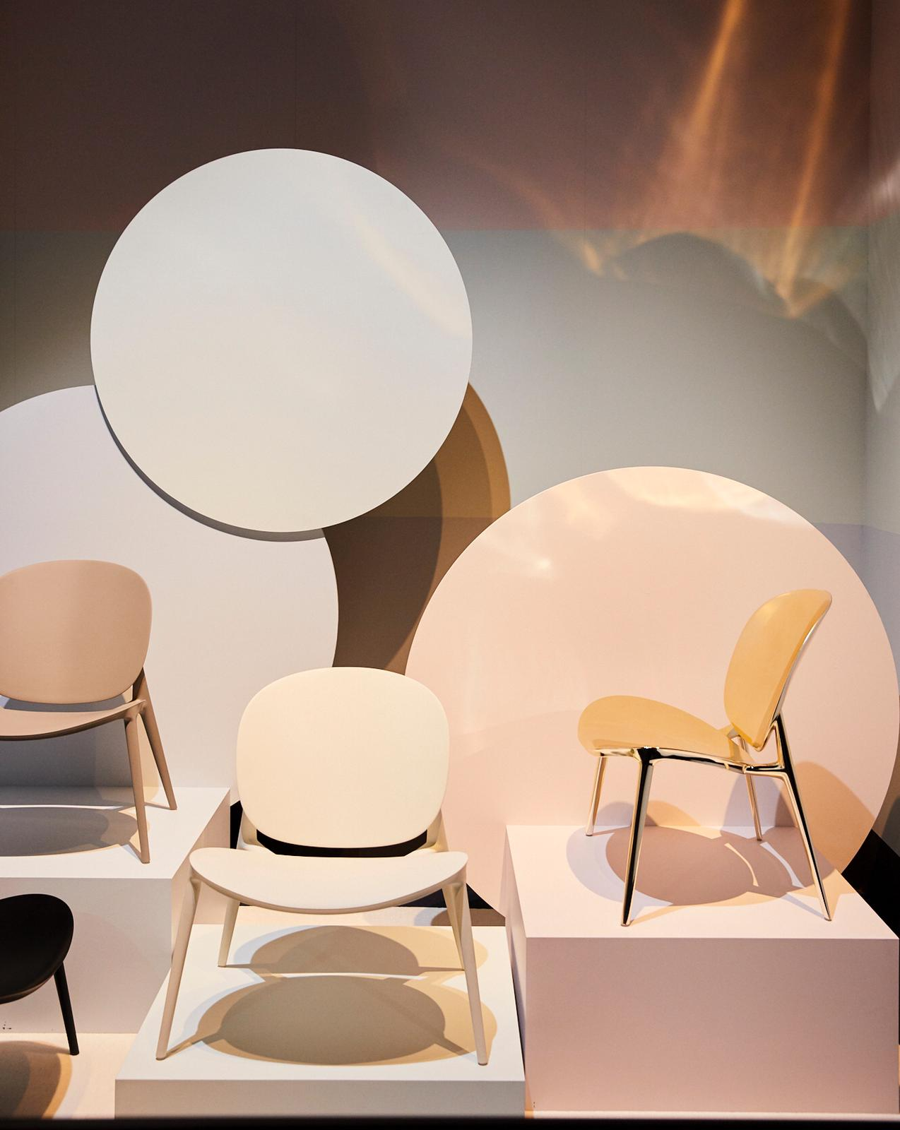 The Be bop chair designed by Ludovica and Roberto Palomba for Kartell.