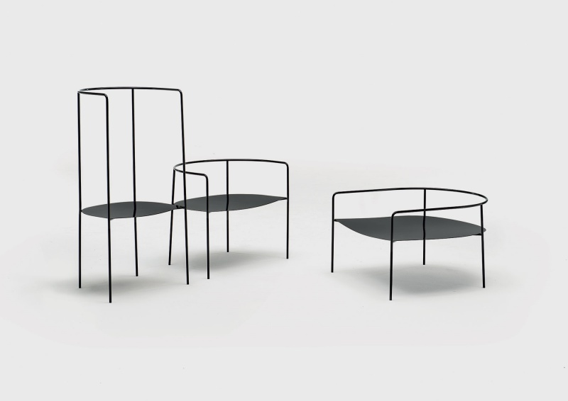 The Sedia series by Piero Lissoni for the Uncollected Collection, Sedia 05, 06 and 07. Photo c/o Living Divani.