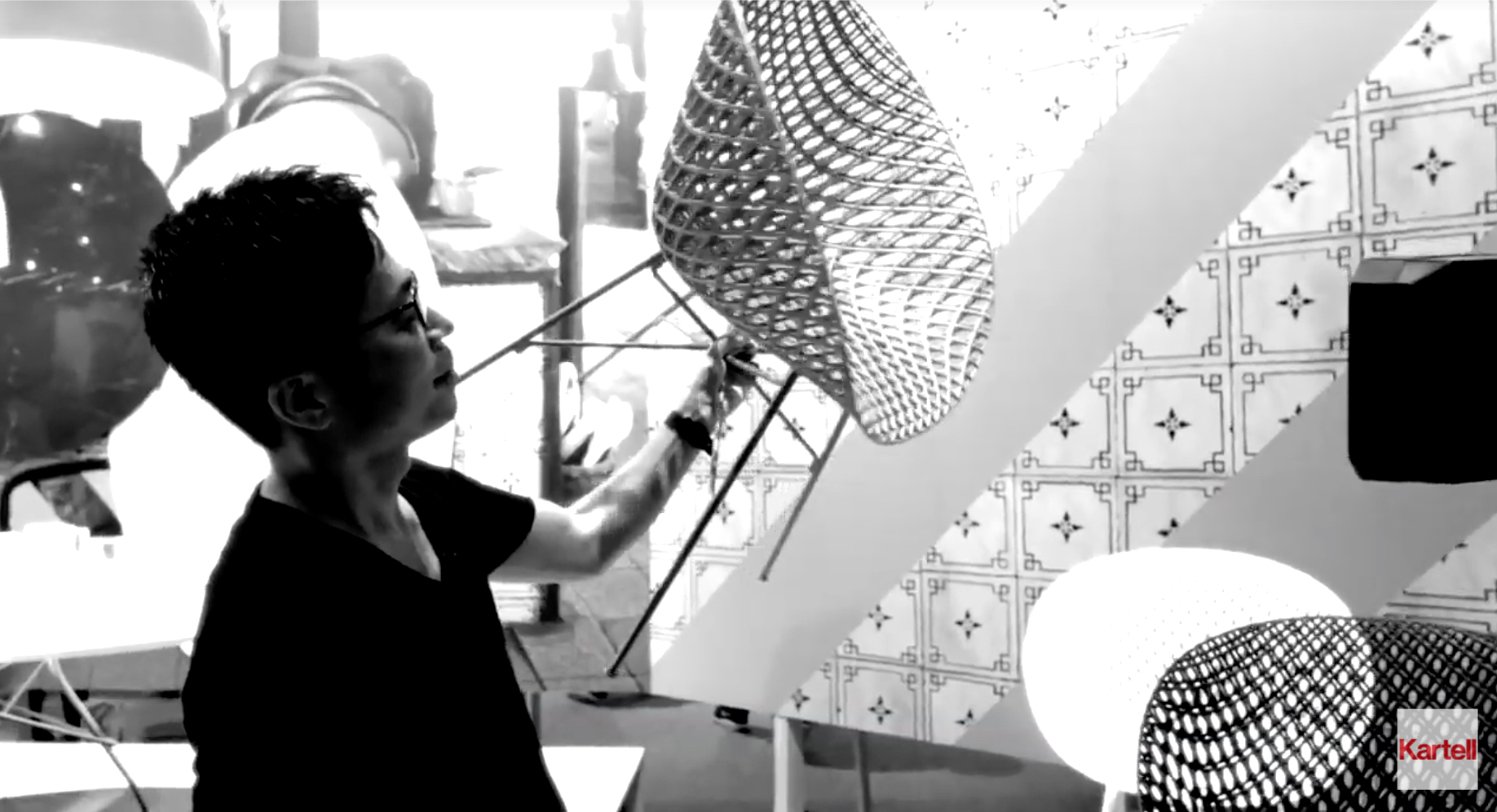 Designer Tokujin Yoshioka worked closely with Kartell's research and development team to develop the complex mould required for the Smatrik collection. Film footage c/o Kartell.