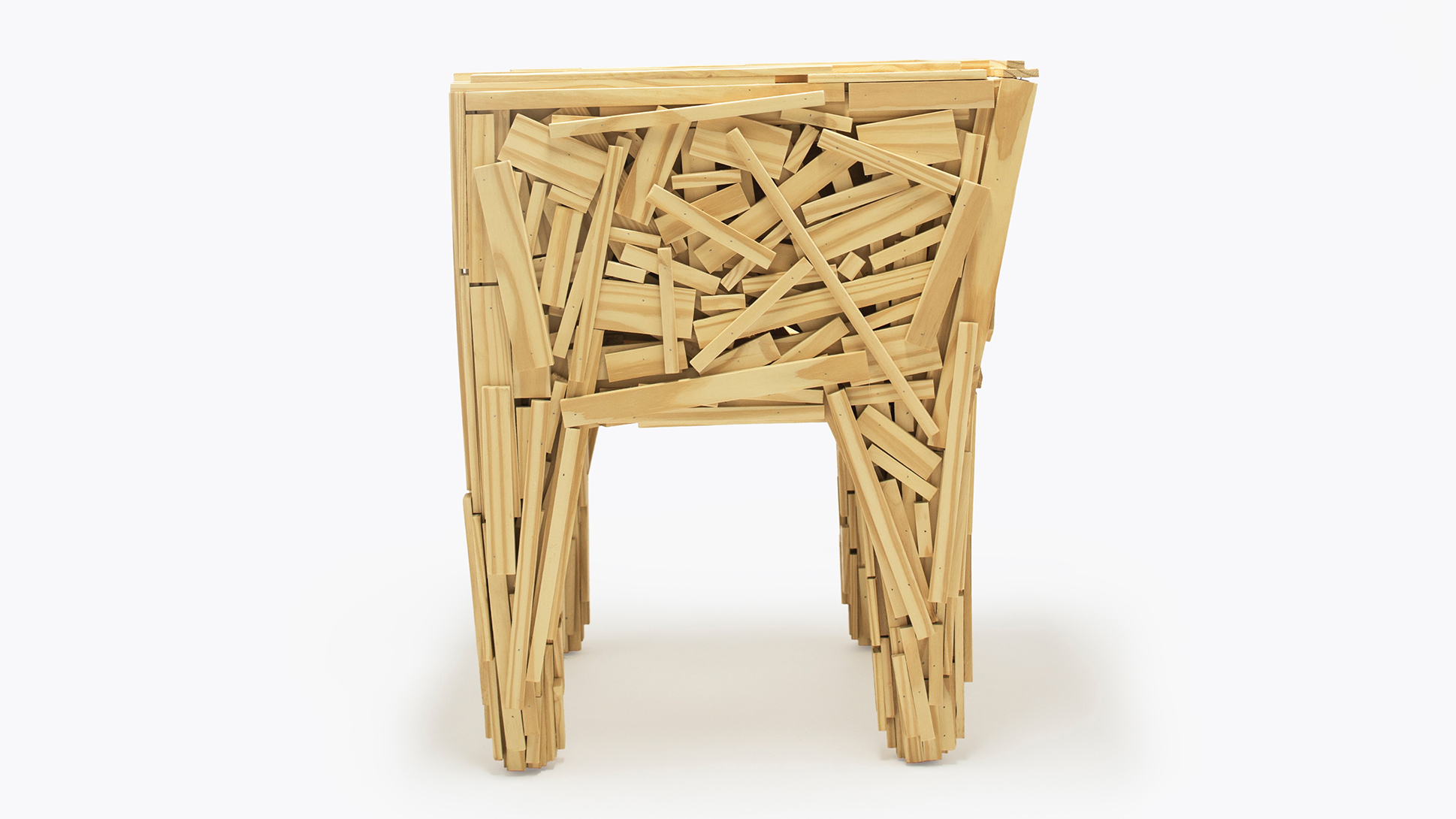 The Favela Chair designed by Fernando and Humberto Campana is one of the duo's most celebrated designs and can be found in private and public collections around the world, including the Metropolitan Museum of Art in New York and the NGV in Melbourne.
