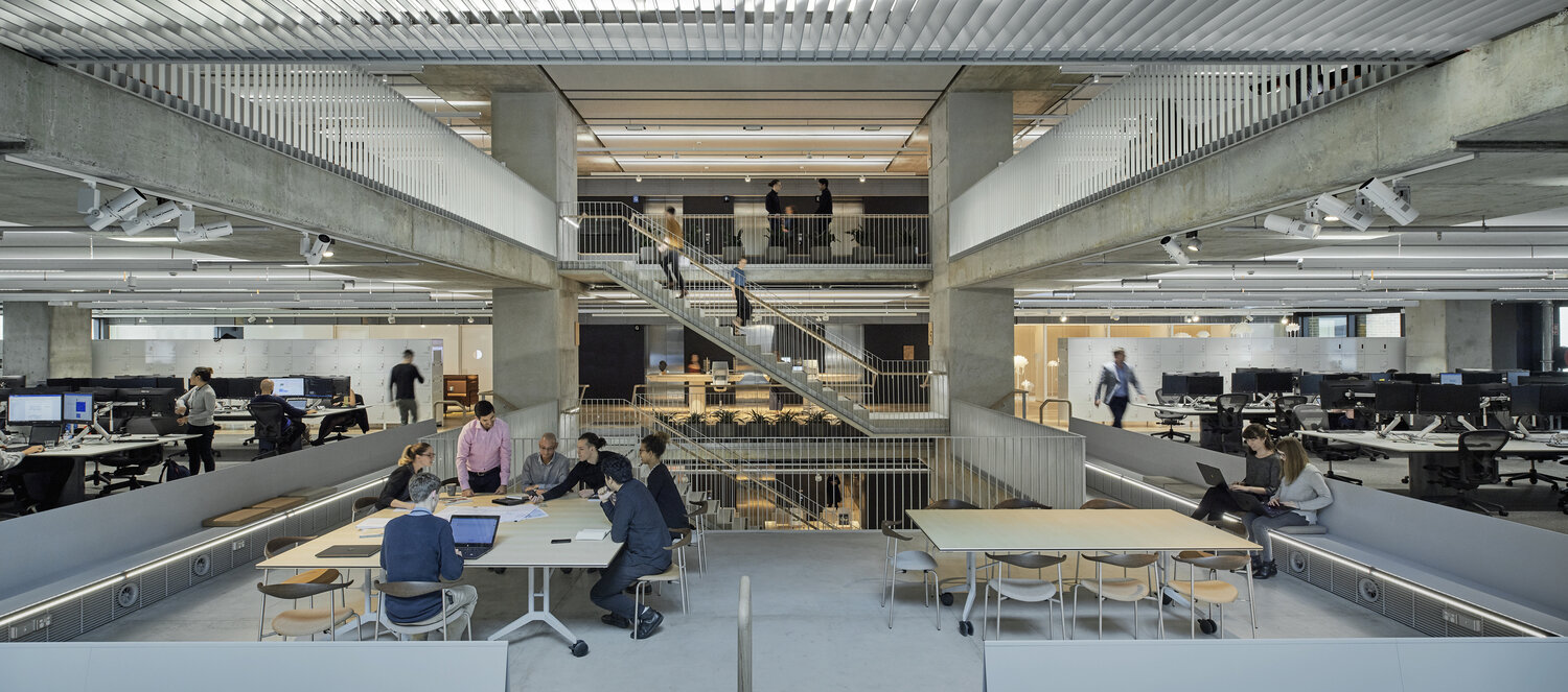 """Working with Arup in Sydney gave Hassell the opportunity to develop a new way of working with clients, focusing on collaboration and partnership and process right down to the smallest details. """"At the end of the day, they're the ones who are left with the workplace that they need to manage"""" remarks Emily. """"I think if they've been through the process and they understand why decisions were made, and what the intent is and how we've set up a platform for things to evolve over time, they can manage it well into the future"""". Photography © Earl Carter."""