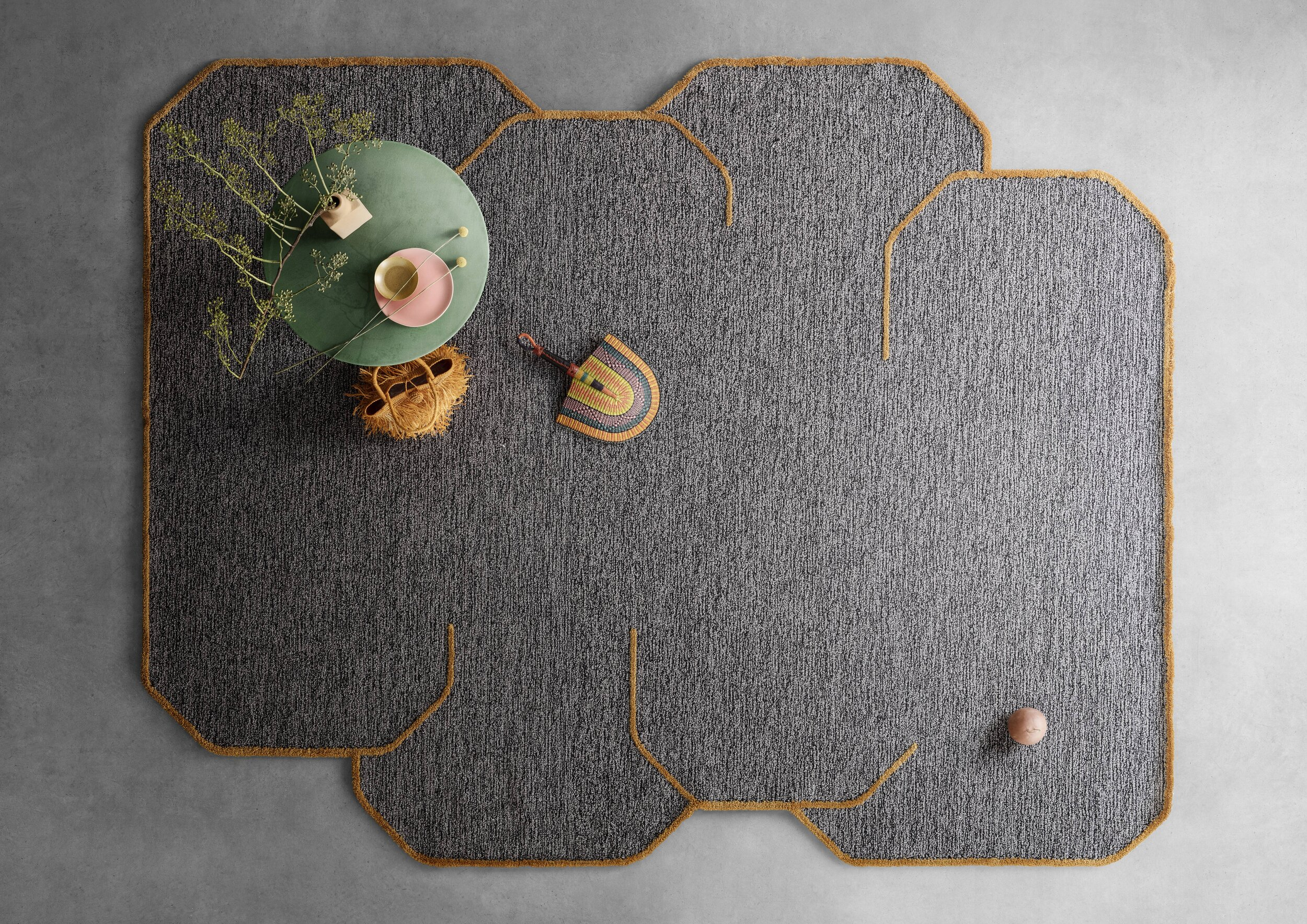 The Poppy Cloud collection designed by Raquel Pacchini is a playful twist on the hand tufted rug Poppy and part of the Soul of Nature range.  Photo c/o Kasthall.
