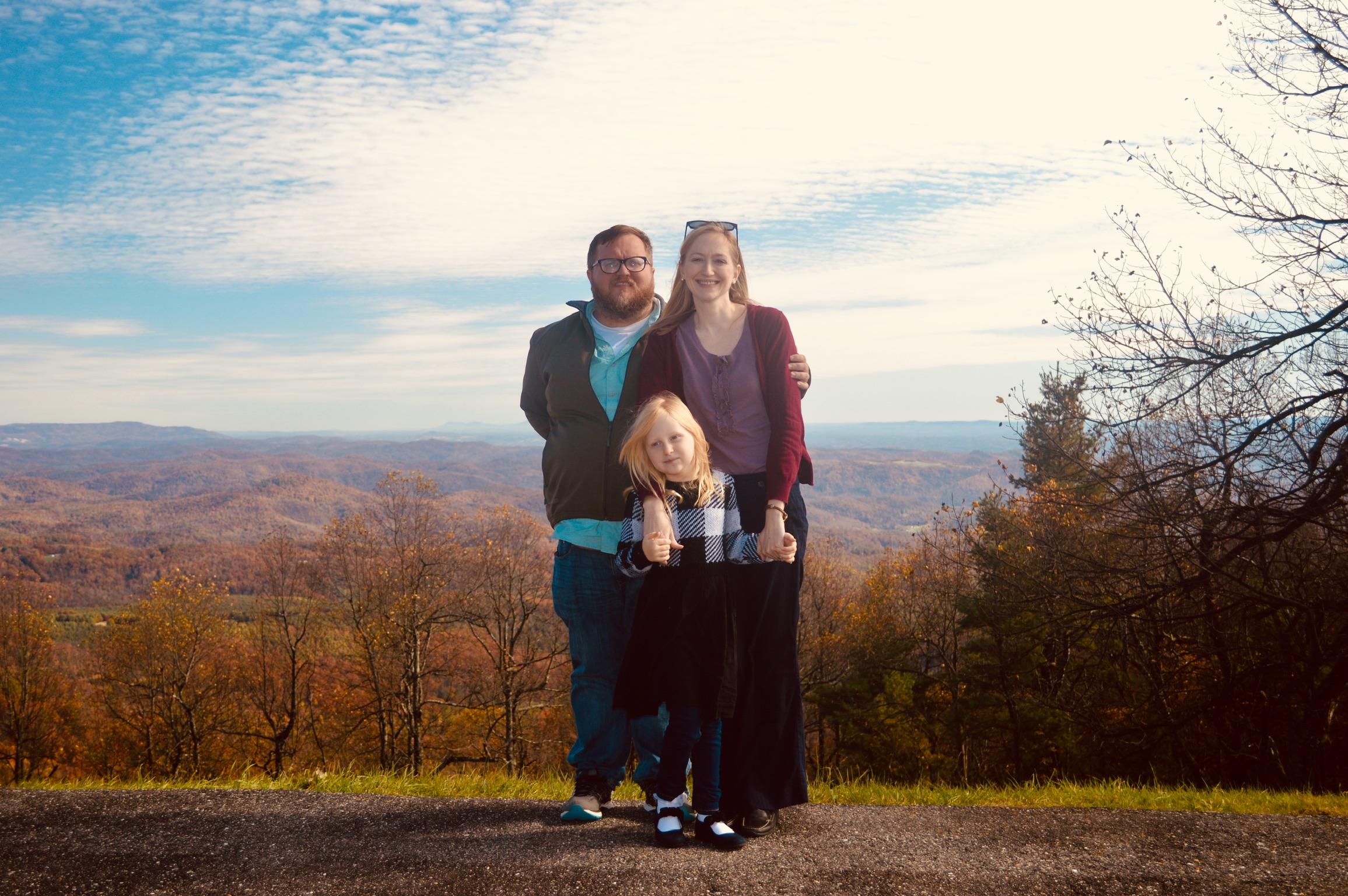 Waiting it out in North Carolina, where Brandon's parents live near Winston-Salem
