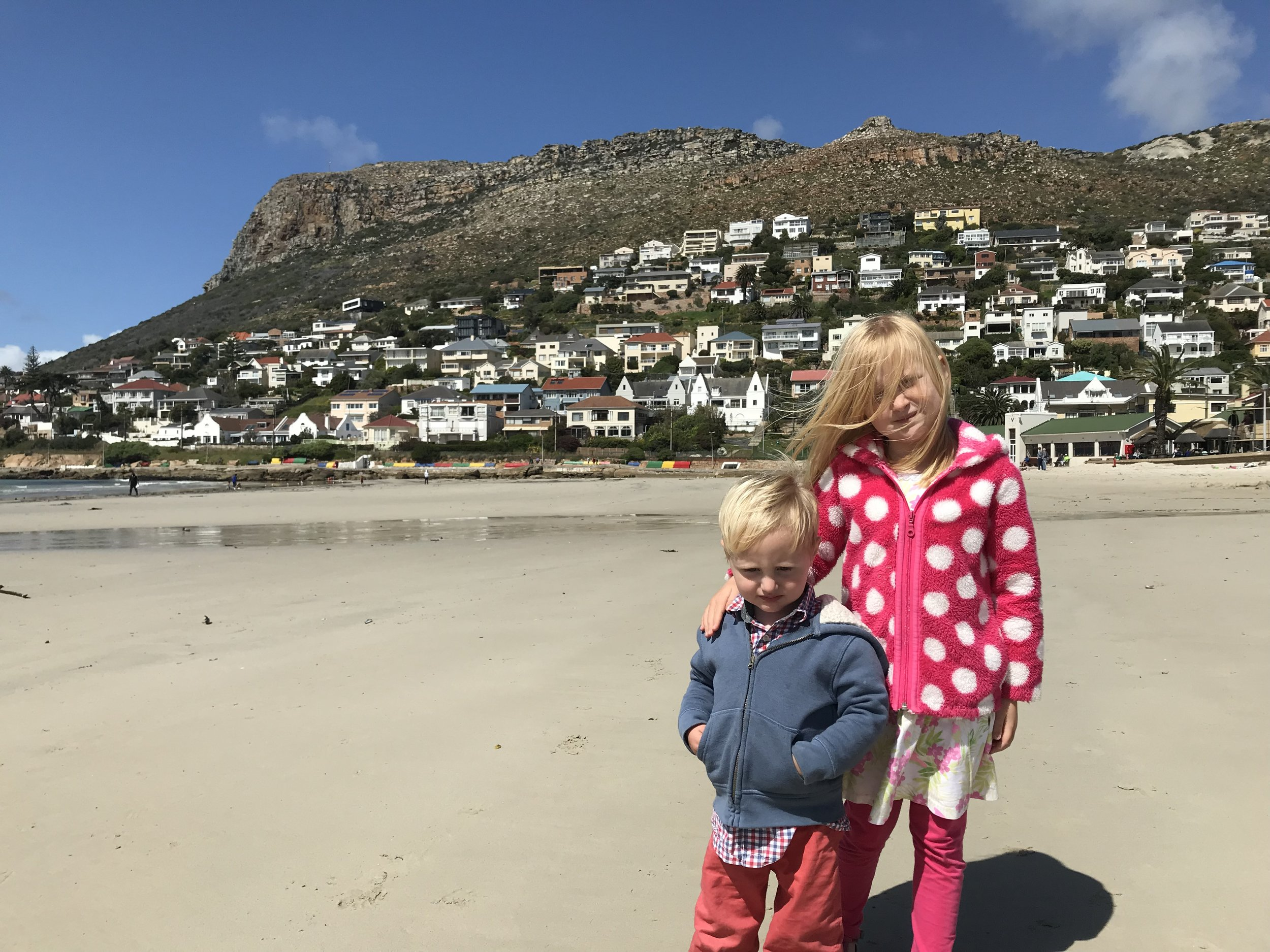 The kids on the beach in Cape Town this September.