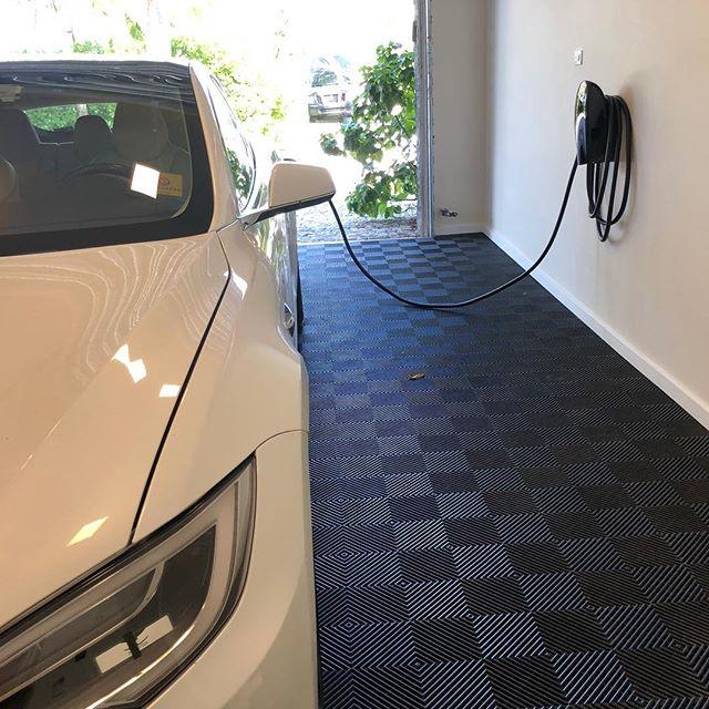 Tesla charger installation in Miami Beach, FL . . . . #miami #miami beach #tesla