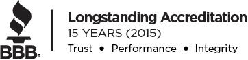 Better Business Bureau Award for Longstanding Accreditation