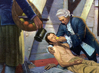 """James Lind (1716-1794)  is quoted saying  """"armies lost more men to disease then to the sword"""""""