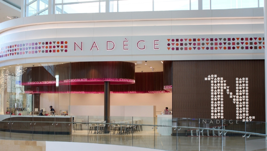 Nadege is now open in the new area near the also recently opened Nordstroms.