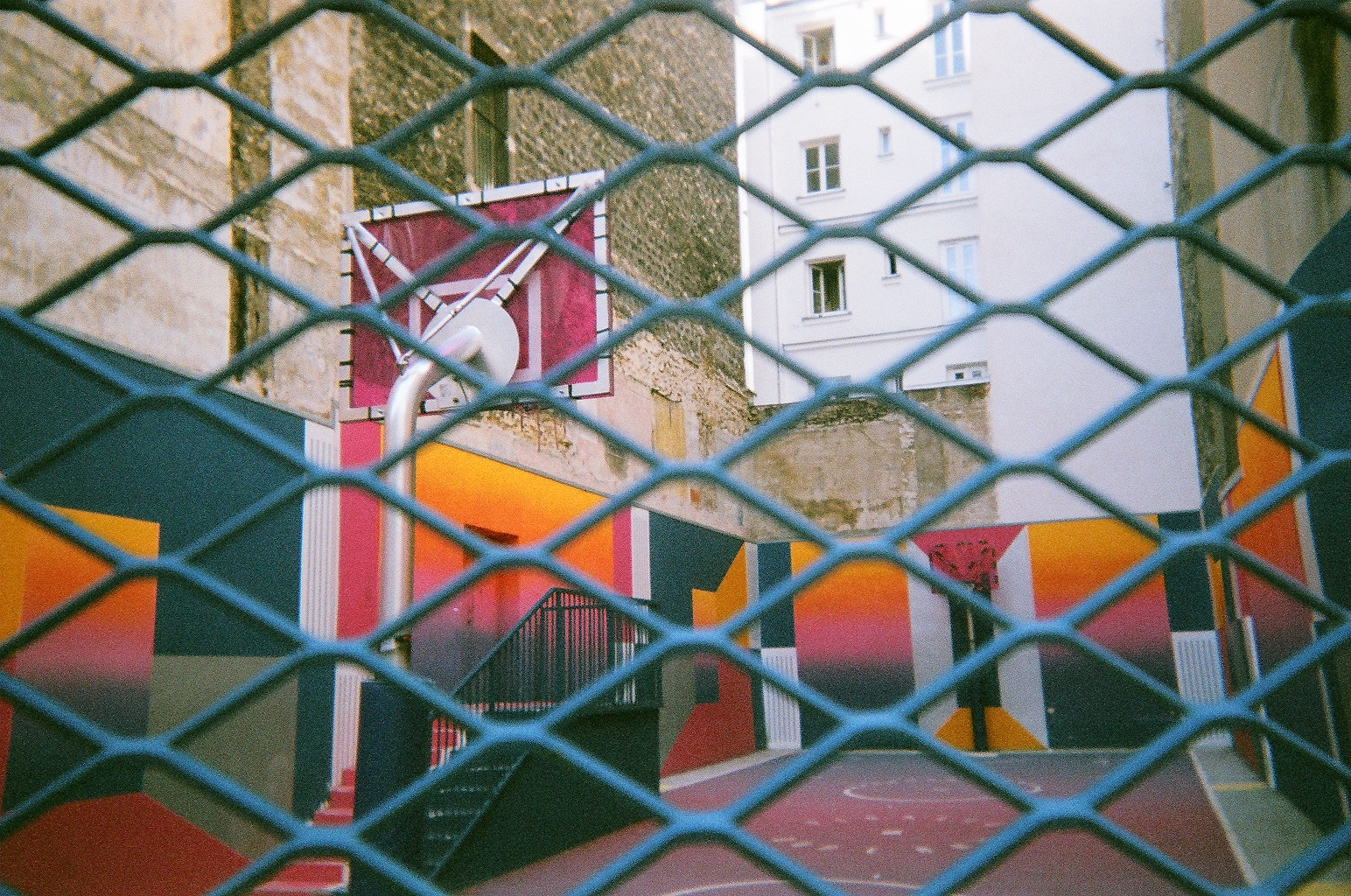 Pigalle Basketball Court. Paris, 2018. shot on  Manual .