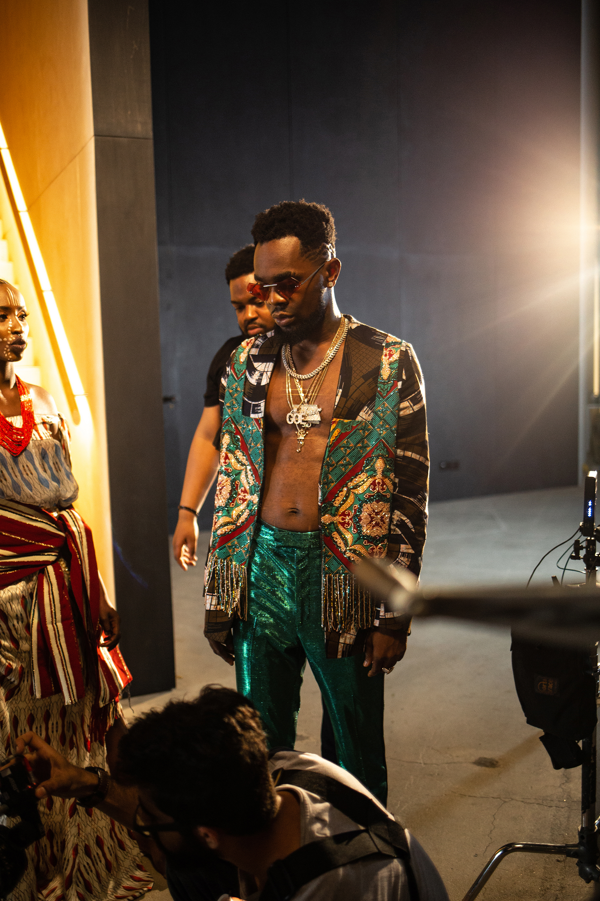 Patoranking wearing Jeweled by Lisa Folawiyo