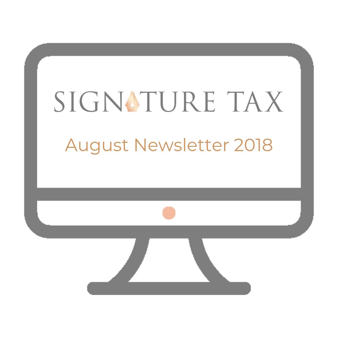SigTax Newsletter August