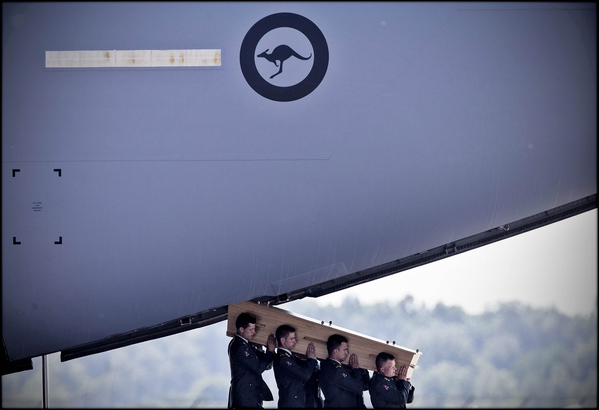 victims of flight mh17 are repatriated to eindhoven airport. (photographed for the australian)