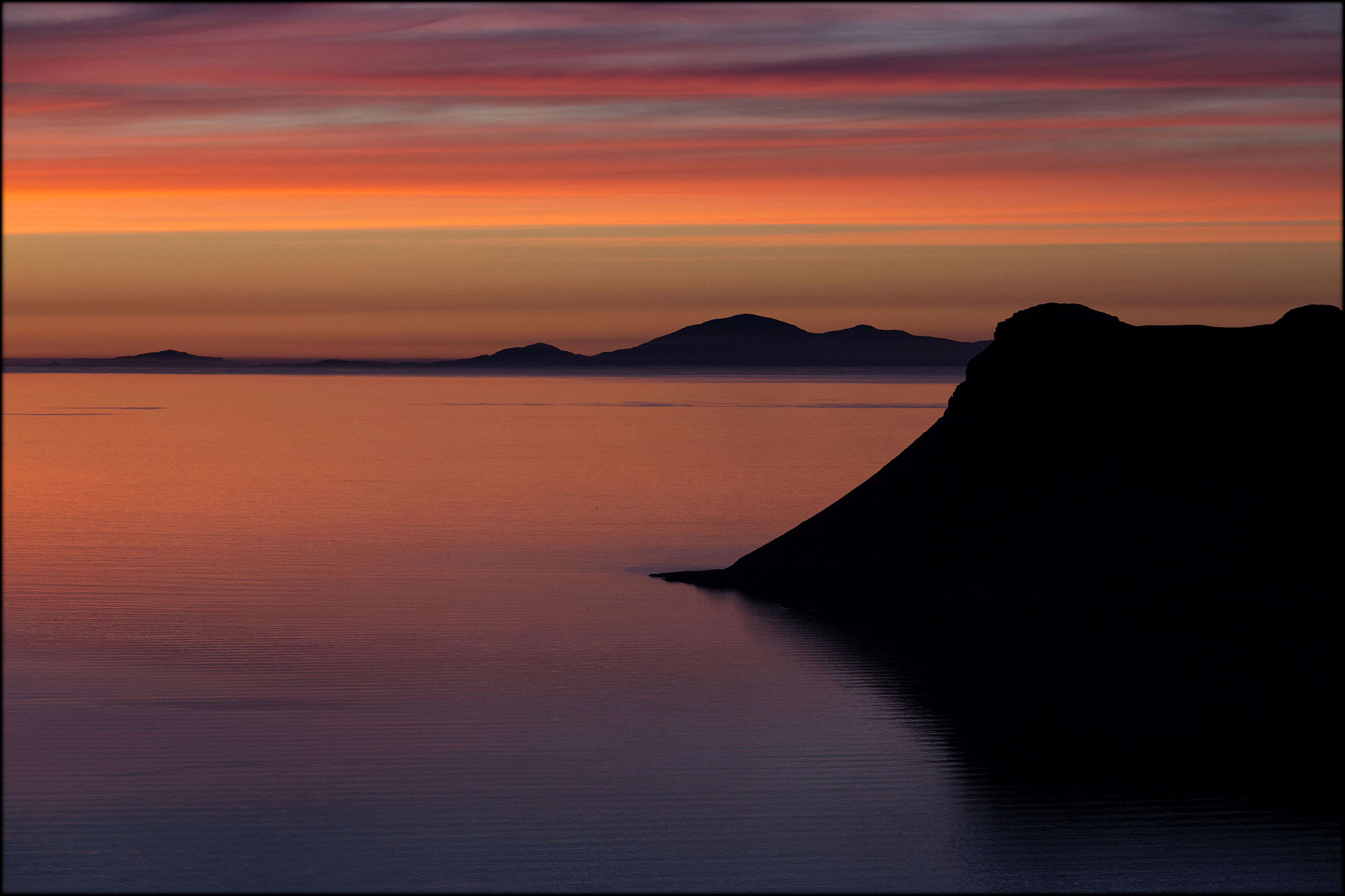 sunset - isle of skye