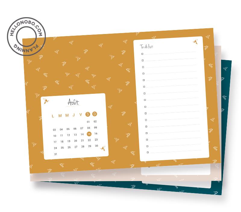 Freebie planning mensuel - Hellonobo.com