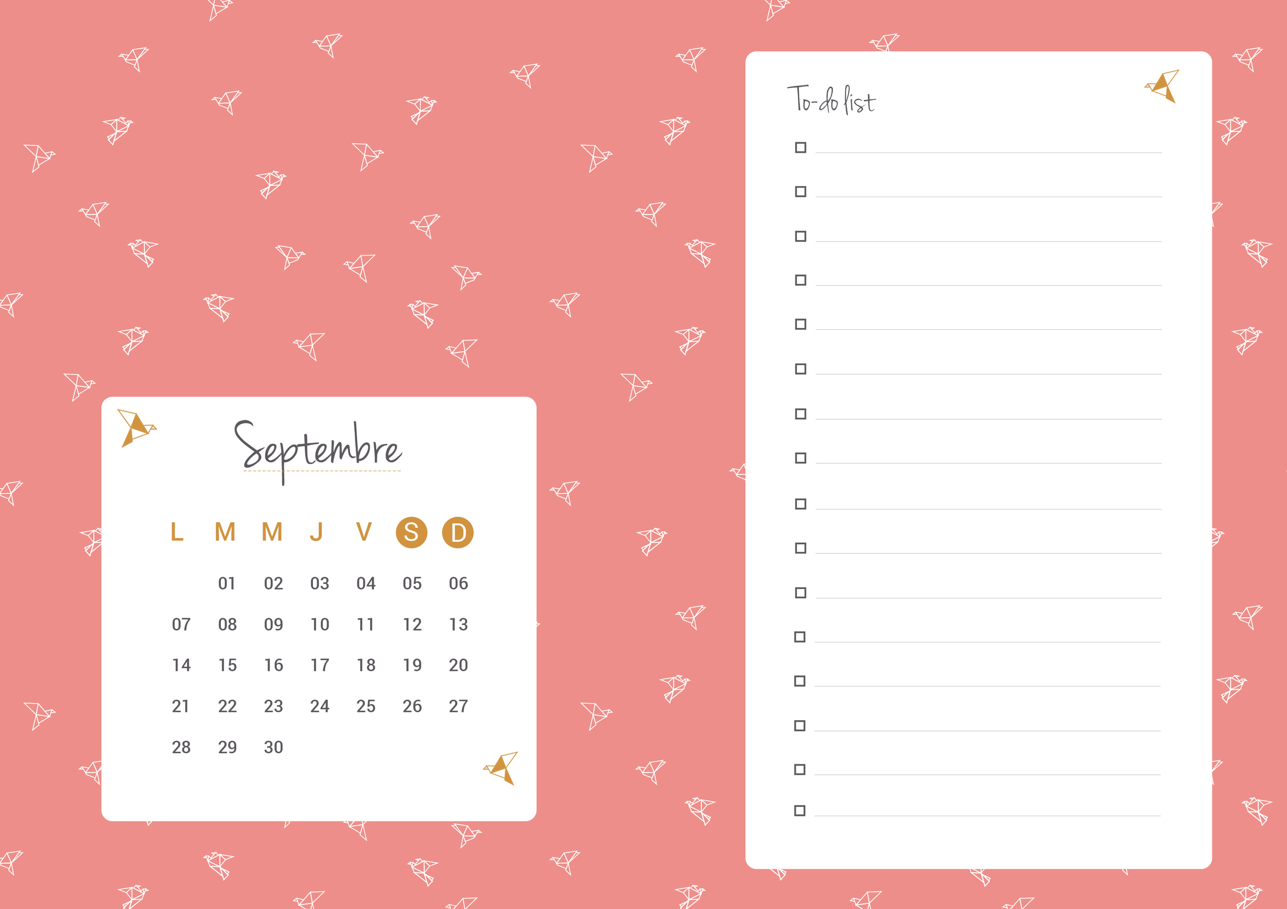 Planning Septembre 2015 - HelloNobo.com