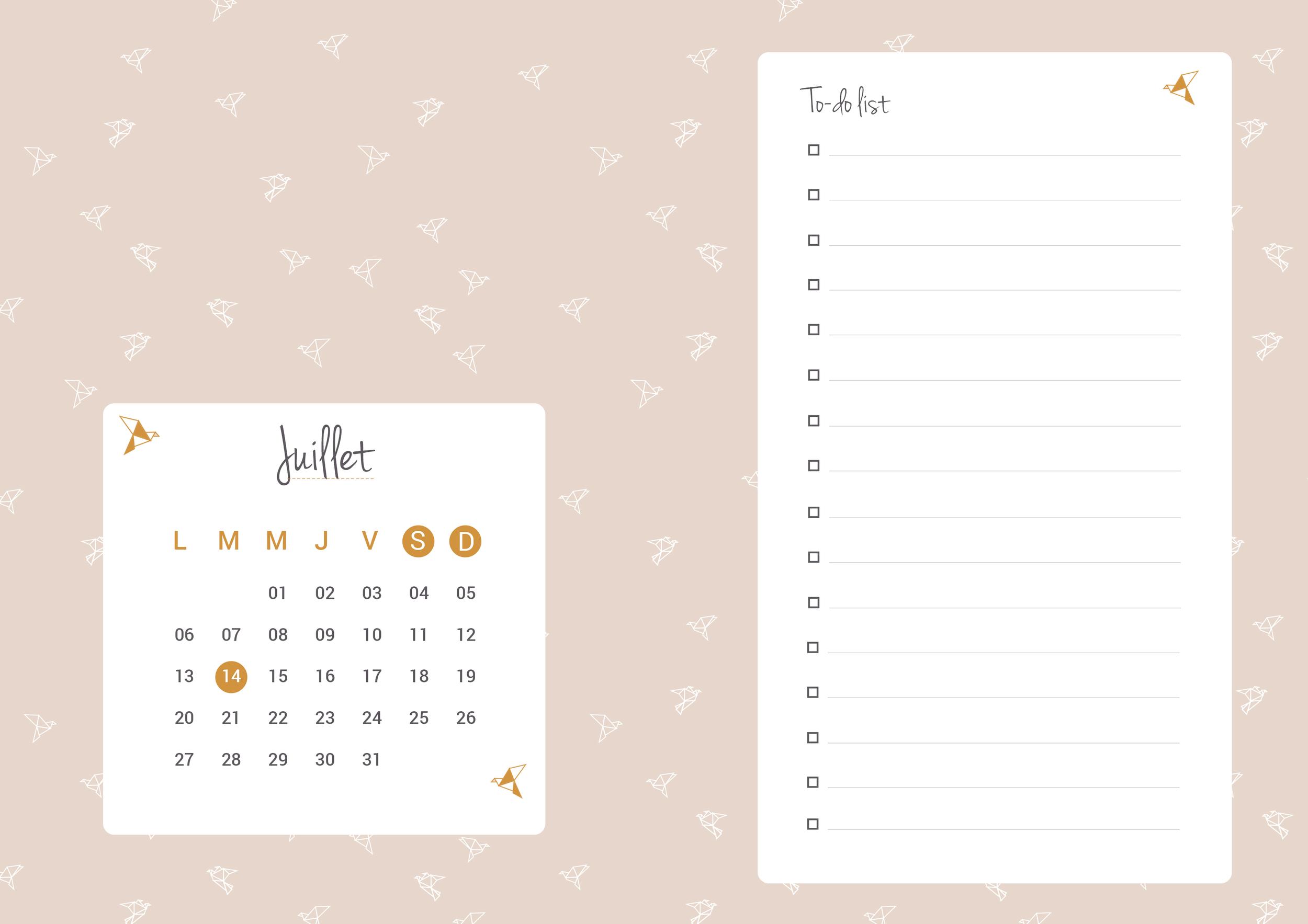 Planning Juillet 2015 - HelloNobo.com