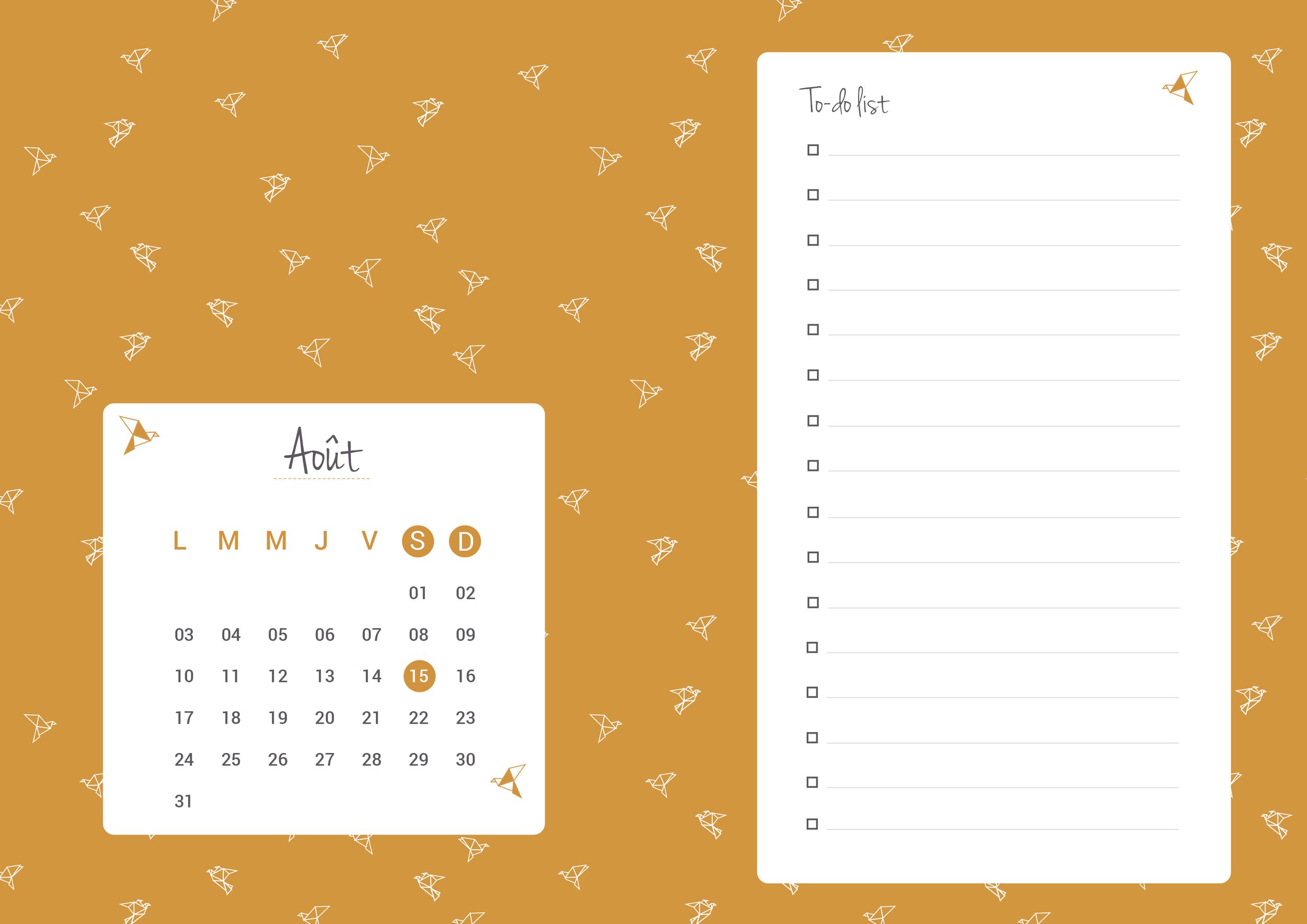 Planning Août 2015 - HelloNobo.com