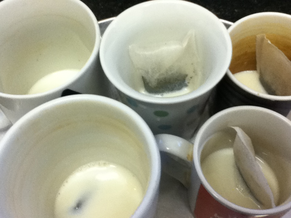 The office tea run. Doing it right, as per Science.