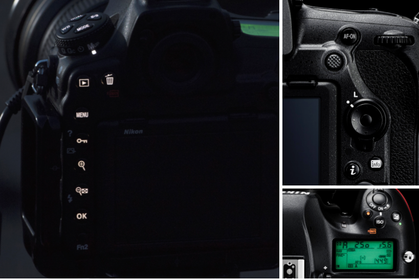 Nikon D850's illuminated back buttons and new sub-selector