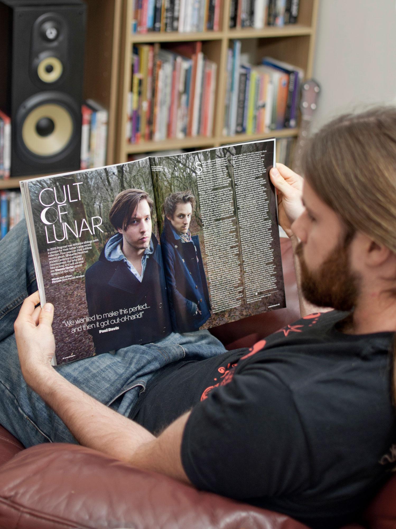Vienna Circle shot for Prog Rock magazine