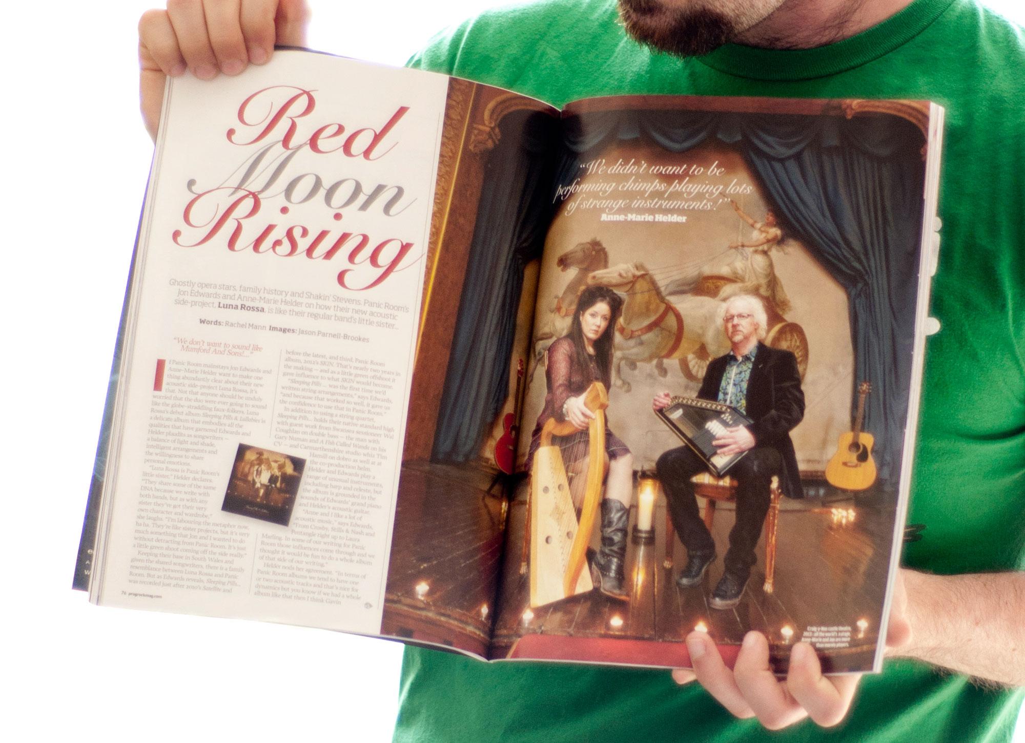 Luna Rossa shot for Prog Rock magazine