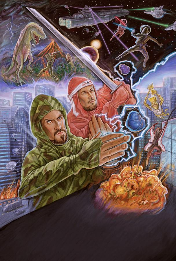 Ninja The Mission Force | Neon Harbor | Digital Paint